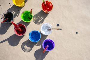 Peinture au sol avec Marc Foss